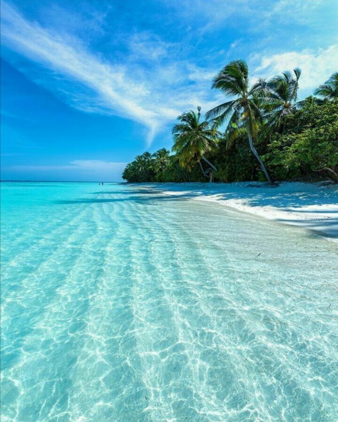 Calm, warm, clear, turquoise waters