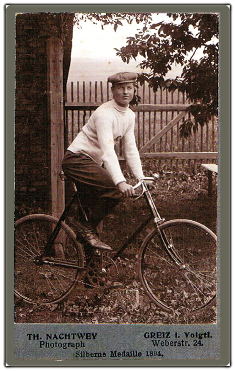Bicycle racer, 1890s