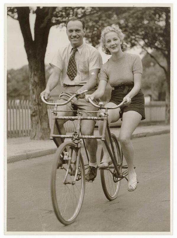 Bicycle built for 2side-by-side