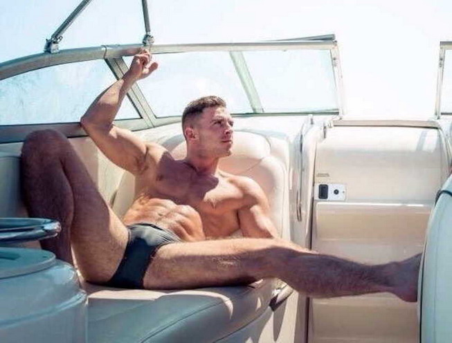 Model on a boat