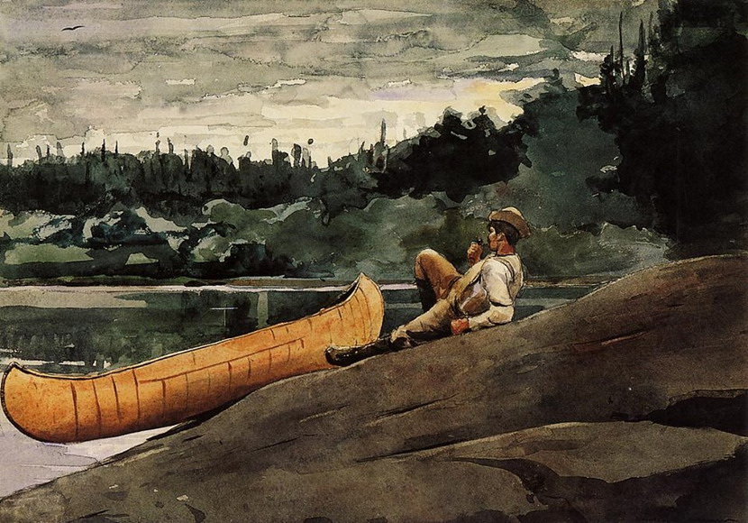 """Winslow Homer """"The Guide"""",1895"""