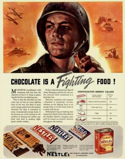 Chocolate is a fightingfood!
