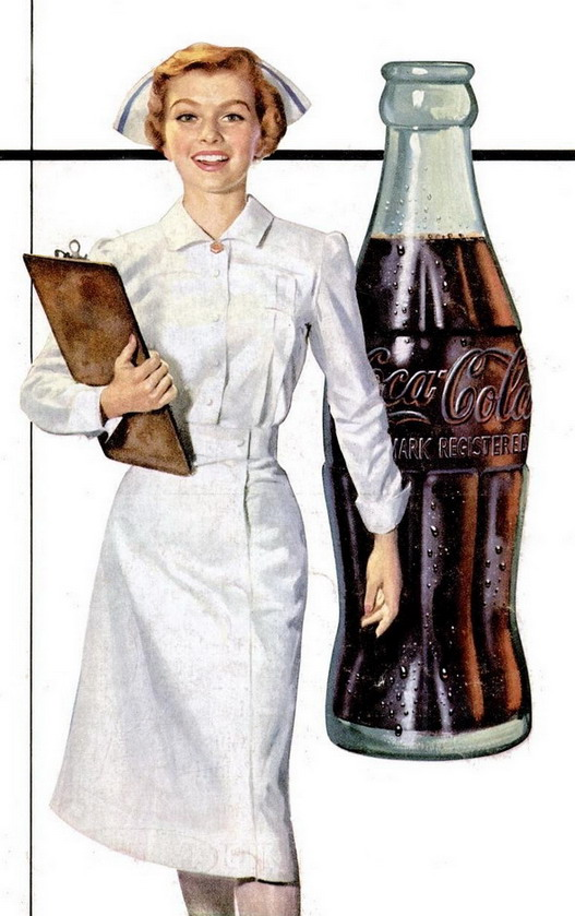 From a Coca Cola ad,1954