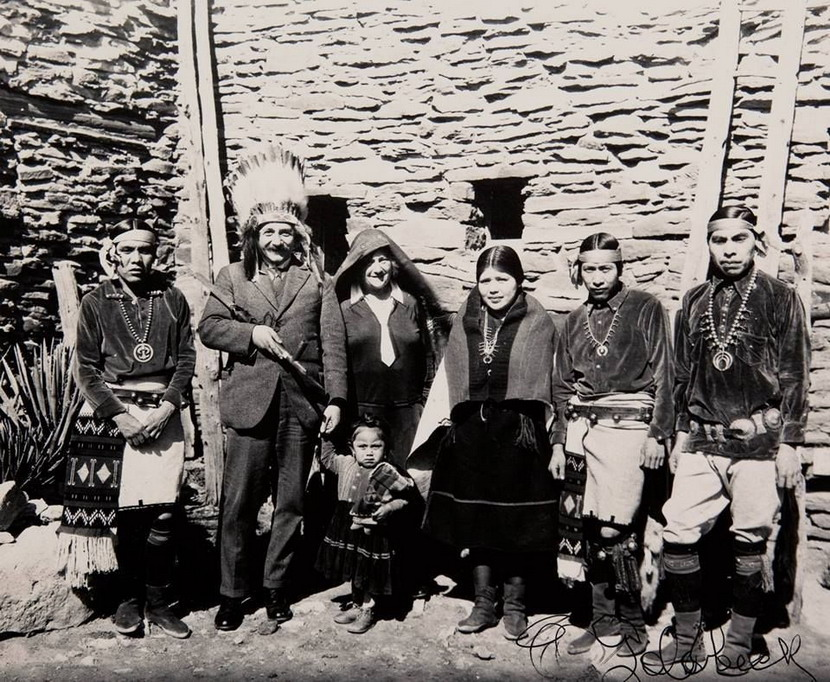 Albert Einstein on vacation at the Grand Canyon, Arizona, 1920s