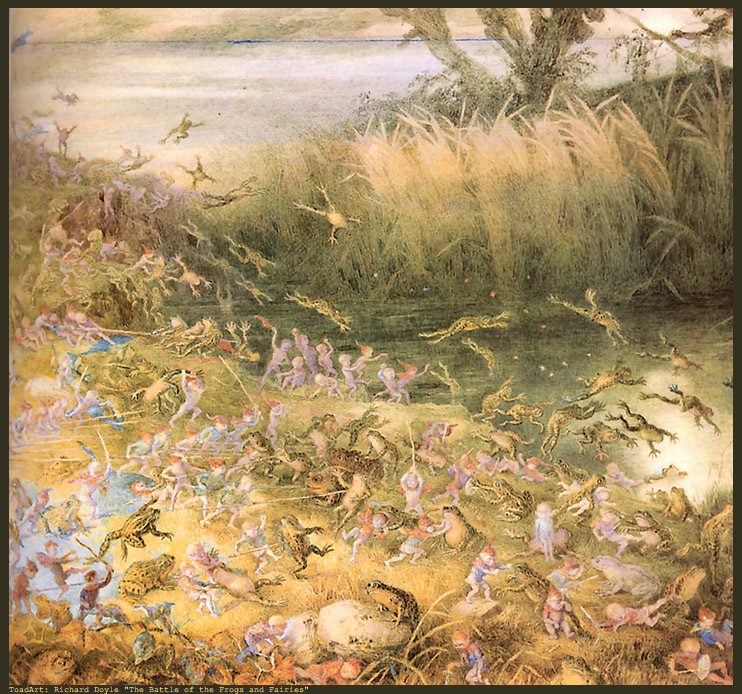 Battle of the Fairies and the Frogs by Richard Doyle