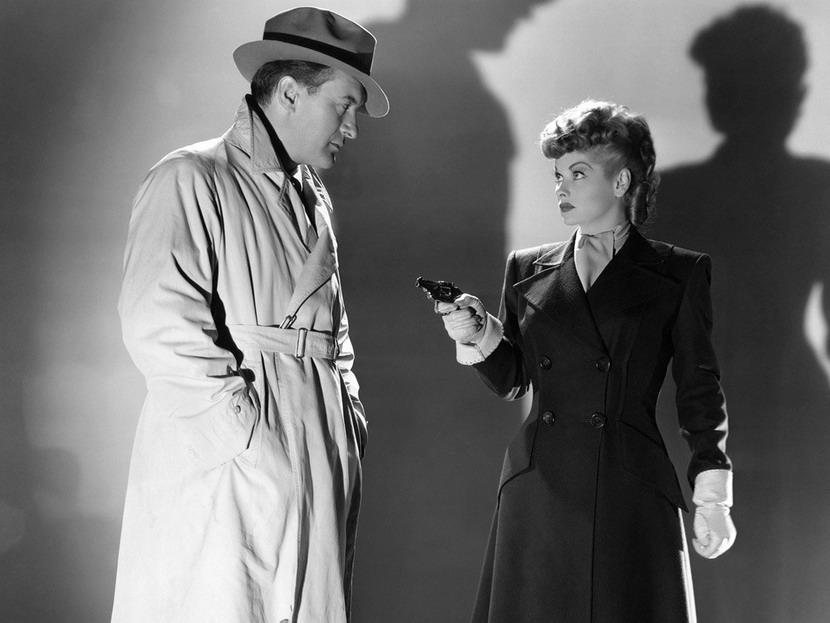 "George Sanders and Lucille Ball in ""Lured"", 1947"