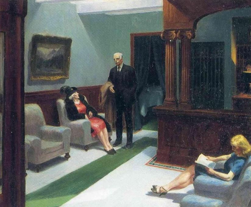 "Edward Hopper ""HotelLobby"""