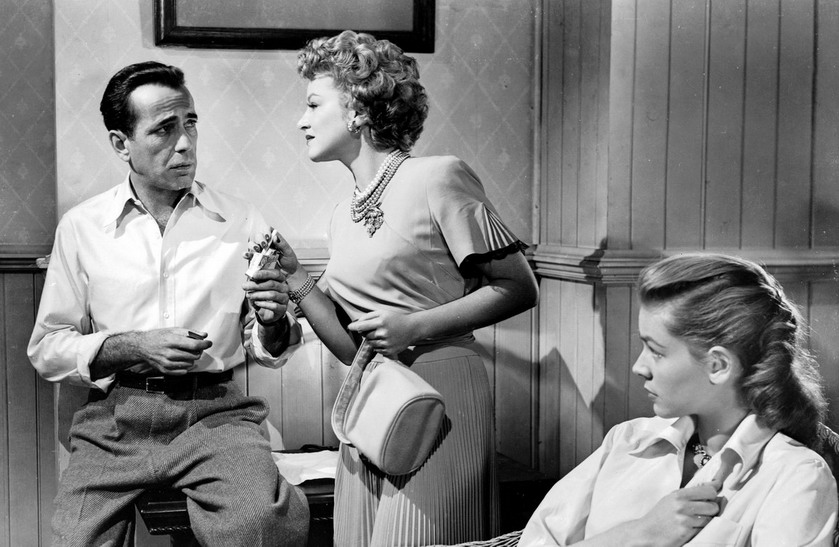"Humphrey Bogart, Claire Trevor, and Lauren Bacall in ""Key Largo"", 1948"