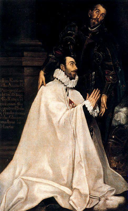 Julian Romero de las Azanas and his patron St. Julian, ElGreco