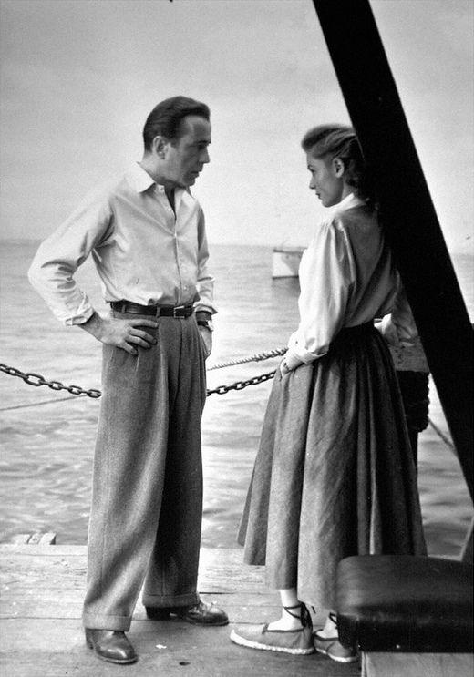 "Humphrey Bogart and Lauren Bacall in ""KeyLargo"""