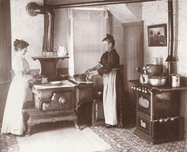 Old time kitchenscene