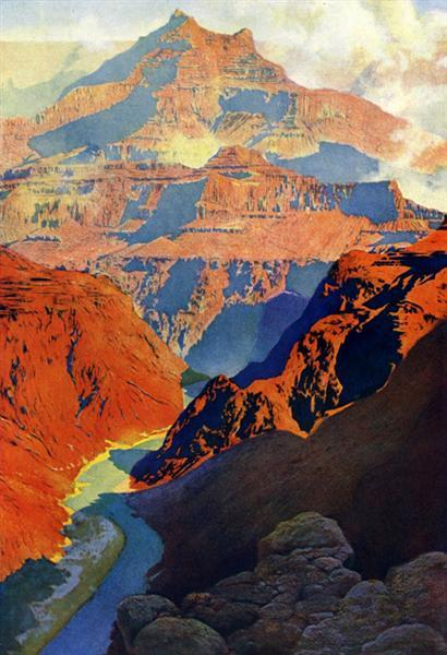 Grand Canyon by Maxfield Parrish,1902