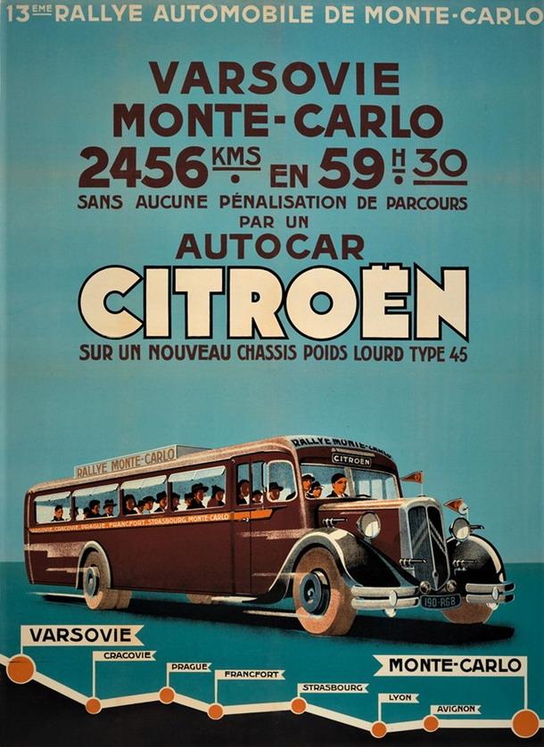 Varsovie (Warsaw) a Monte-Carlo par autobus,1920s