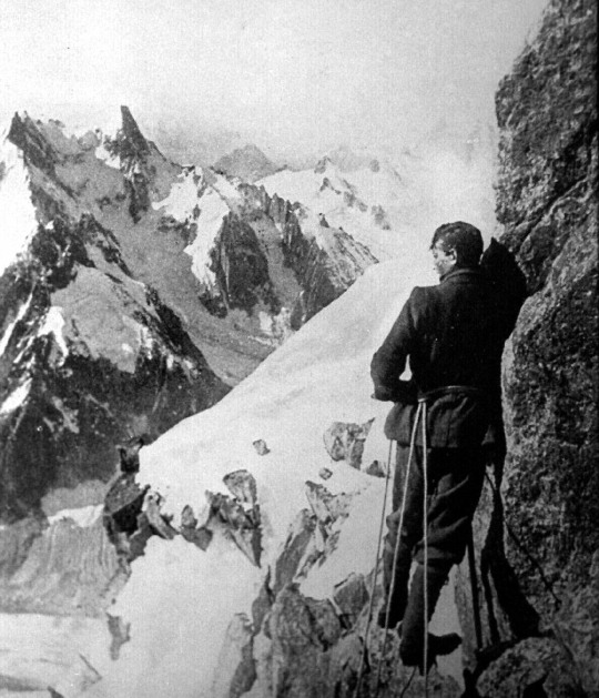 Vintage mountaineer