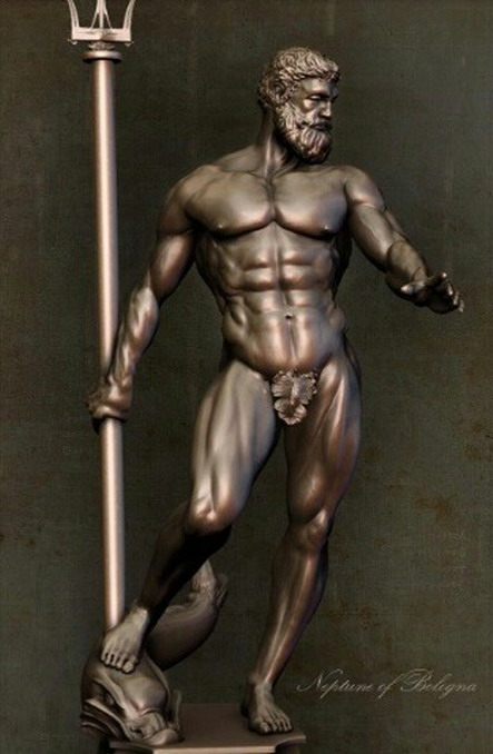 Replica of the Neptune of Bologna,Italy
