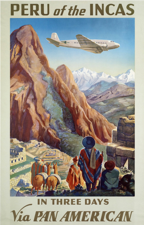 Let's fly down to Peru, Pan Am, 1940s