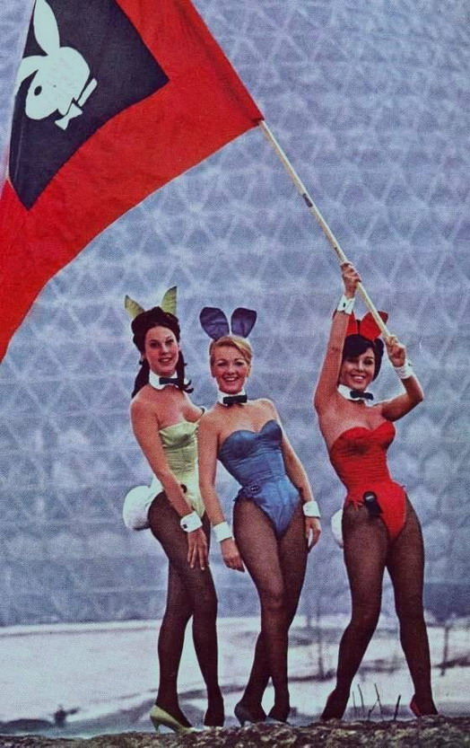 Playboy bunnies at the 1967 Montreal Expo
