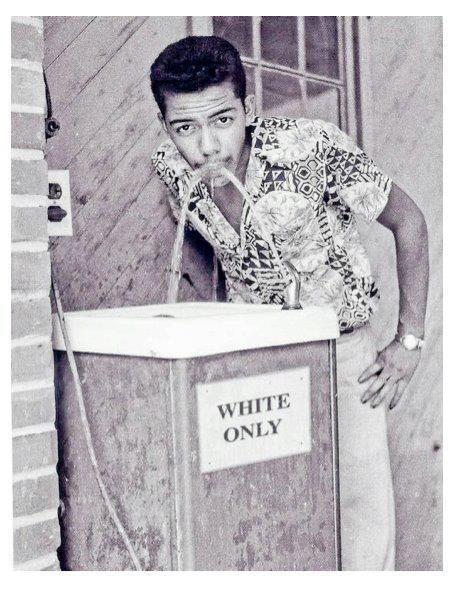 Defying US racial segregation,1950s
