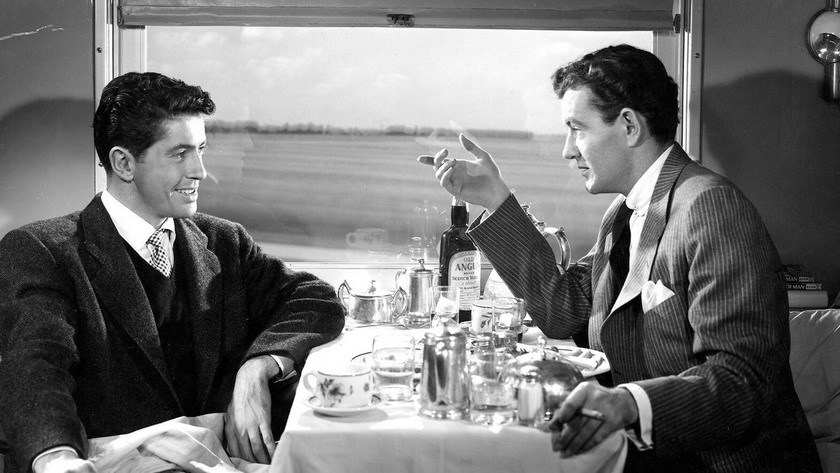 "Farley Granger and Robert Walker in ""Strangers on a Train"", 1951"