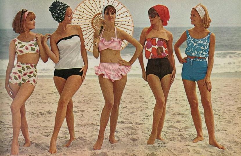 Swimwear models, 1962