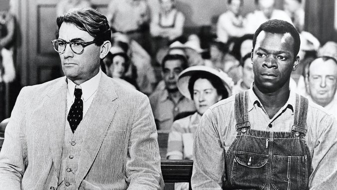 """Gregory Peck and Brock Peters in """"To Kill a Mockingbird"""""""