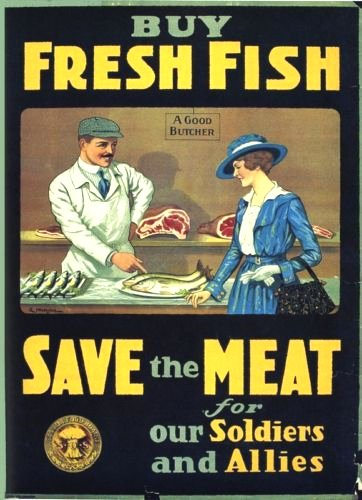 Poster promoting fish consumption, WWI