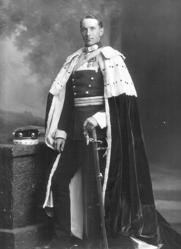 Arthur Kenlis Maxwell, 11th Baron Farnham, dressed for the coronation of King George V, UK, 1911