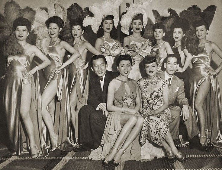 Asian American performers at the Forbidden City Nightclub in San Francisco, 1950
