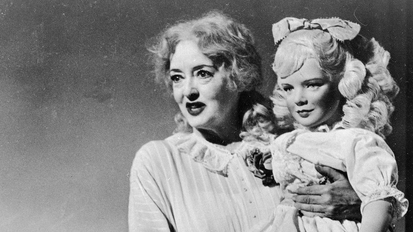 "Bette Davis with a 'Baby Jane Hudson Doll' in ""Whatever Happened to Baby Jane?"", 1962"