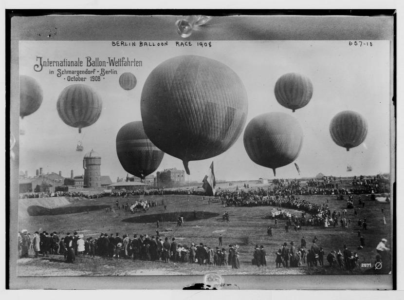 Internationale Ballon-Weltfahrten, Berlin Balloon Race,1908