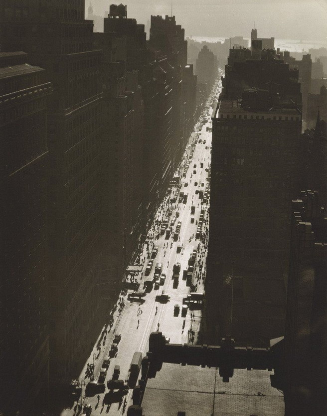 Berenice Abbott, Seventh Avenue Looking South from 35th Street, NYC,1935