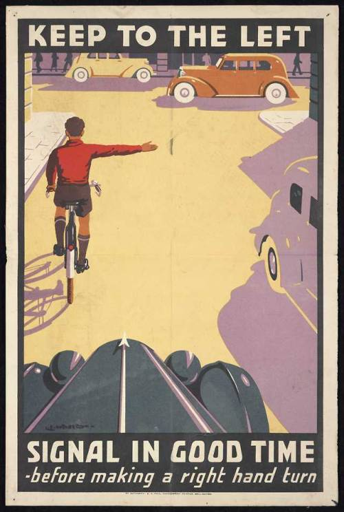 Bicycle rules, UK,1930s