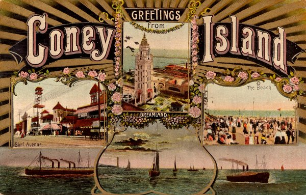 Coney Island postcard, circa1900