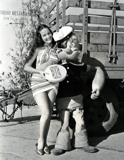 Dorothy Lamour and Popeye