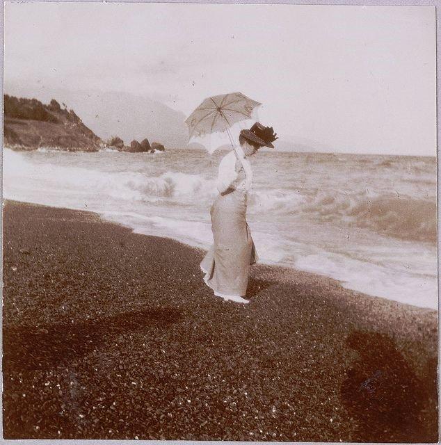 Russian Empress at the beach in Crimea, circa1900