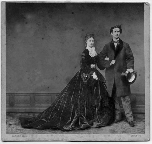 "Empress Elisabeth ""Sissi"" of Austria and her cousin ""Mad"" King Ludwig of Bavaria"
