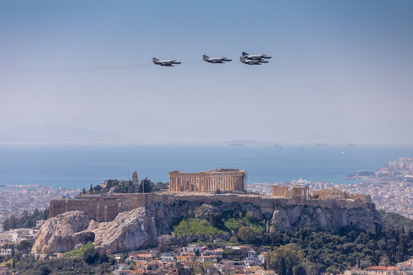 Greek Air Force over Athens today in celebration of Greek IndependenceDay
