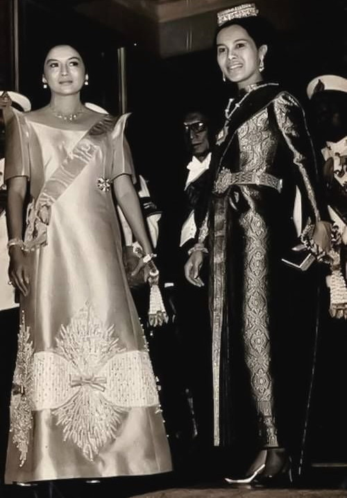 Her Majesty Queen Sirikit Of Thailand and Imelda Marcos, First Lady of thePhilippines