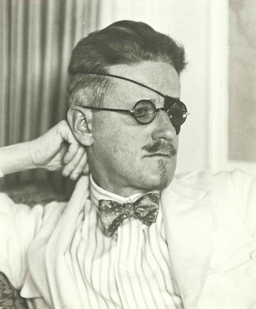 James Joyce wearing an eye patch