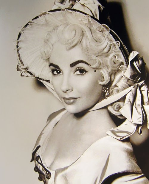 Elizabeth Taylor as a blond