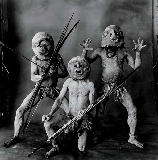 Three Asaro Mud Men, New Guinea by Irving Penn