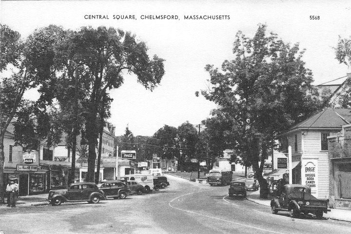 Downtown Chelmsford, Massachusetts, 1930s