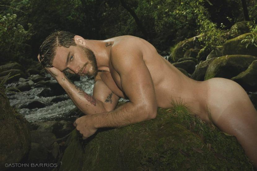 Model posing by astream