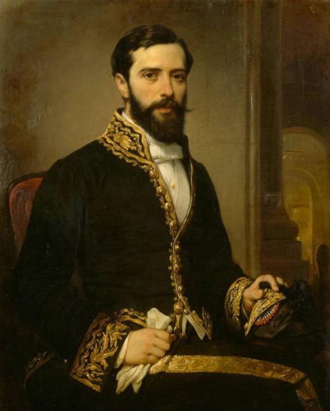 """""""Portrait de son Neveu"""",  par Théodule Devéria,1864"""