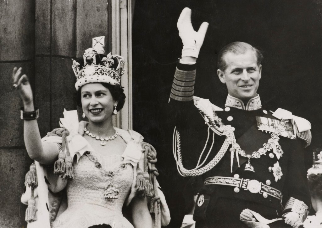 Queen Elizabeth II and Phillip at her coronation, 1953