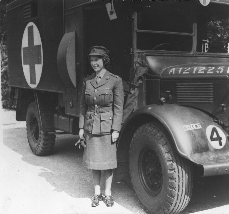 Princess Elizabeth (later QEII) as an ambulance driver, London,WWII
