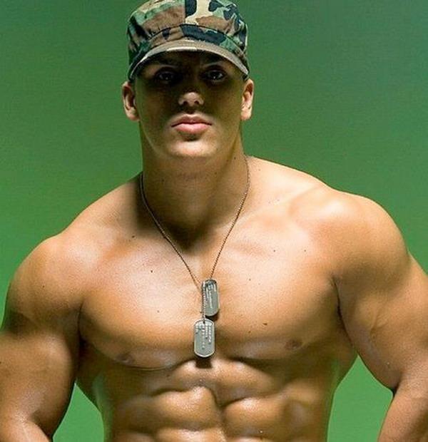 Shirtless Soldier