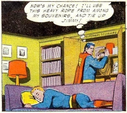 Superman getting a little kinky