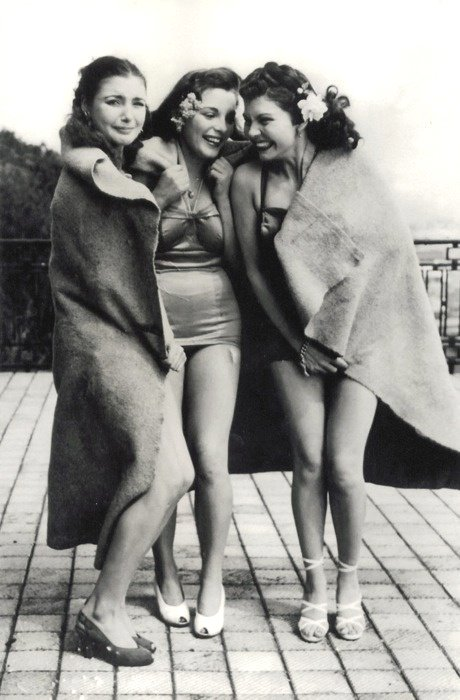Chilly swimwear models, 1940s