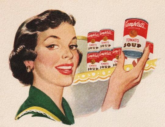 Tomato soup, 1950s